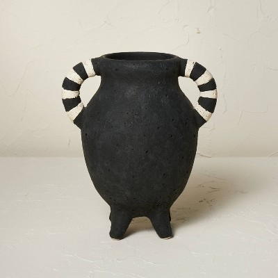 """10"""" x 8.5"""" Terracotta Vase with Handles - Opalhouse™ designed with Jungalow™"""