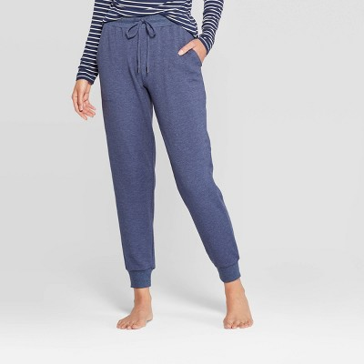 Women's Beautifully Soft Fleece Lounge Jogger Pants - Stars Above™ Navy L