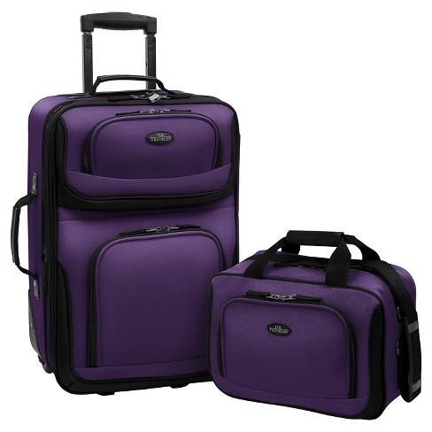 U.S. Traveler Rio 2pc Expandable Carry On Luggage Set - image 1 of 2