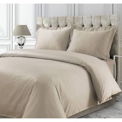 3pc 750 Thread Count Cotton Sateen Oversized Duvet Cover Set - Tribeca Living