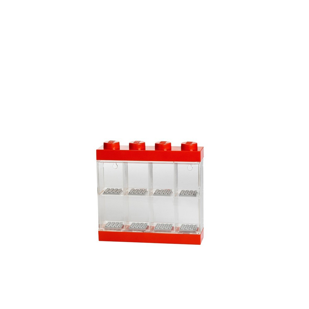 Lego Minifigure Display Case 8 - Red