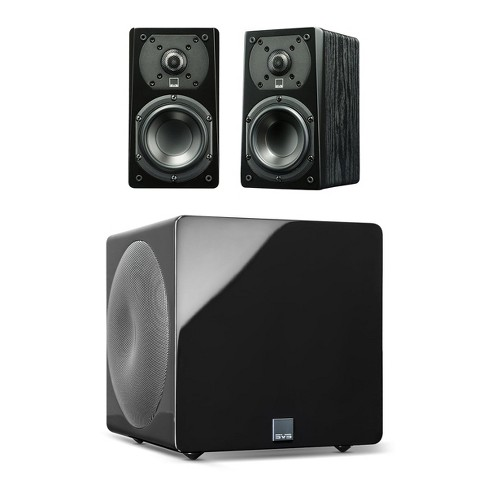 SVS Prime Satellite 2.1 Speaker Package with 3000 Micro Subwoofer (Premium Black Ash/Piano Black) - image 1 of 4