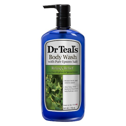 Dr Teal's Pure Epsom Salt Relax & Relief Eucalyptus & Spearmint Body Wash - 24 fl oz - image 1 of 3