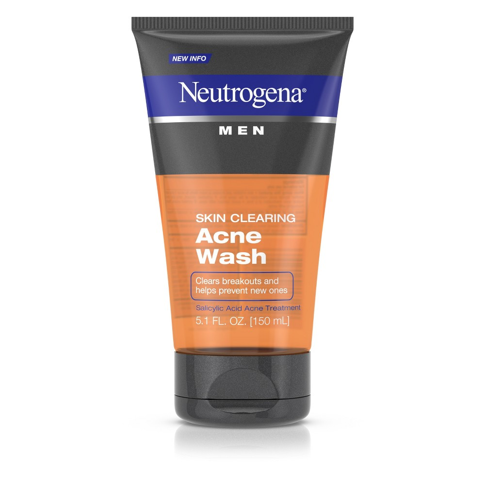 Neutrogena Men Skin Clearing Salicylic Acid Acne Face Wash - 5.1 fl oz
