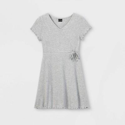 Girls' Short Sleeve Wrap Dress - art class™
