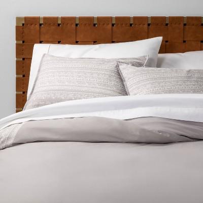 Full/Queen Printed Duvet Set Gray Border - Opalhouse™
