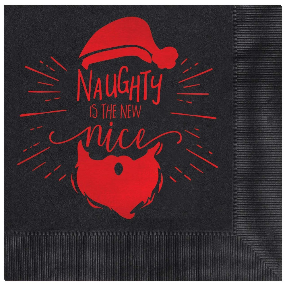 "Image of ""25ct """"Naughty Is The New Nice"""" Greeting Cards"""