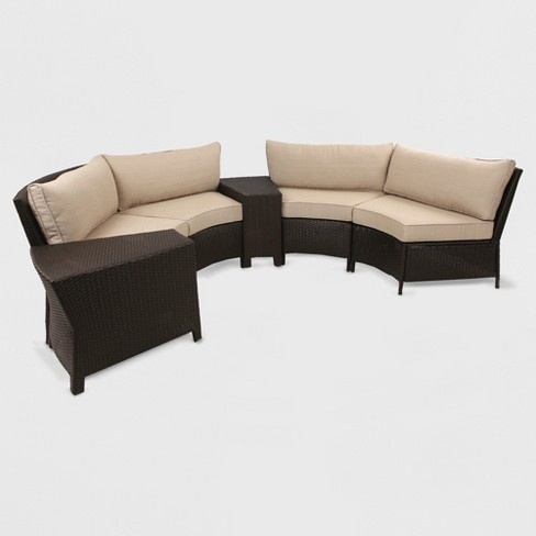 Harrison Sectional Seat And Back Replacement Cushion Tan Grand Basket Target