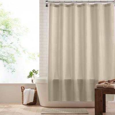 "Essential Waffle Stripe Modern Fabric Shower Curtain - 72"" x 72"" - Elrene Home Fashions"