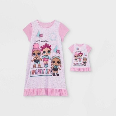 Girls' L.O.L. Surprise! Doll & Me Dorm Nightgown - Pink