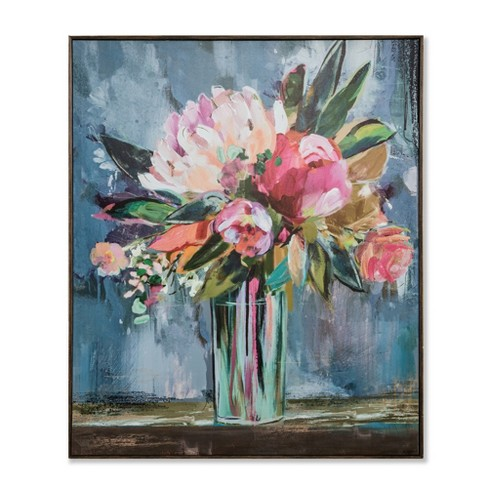 "36""x30"" Floral Still Life Framed Wall Canvas - Opalhouse™ - image 1 of 3"