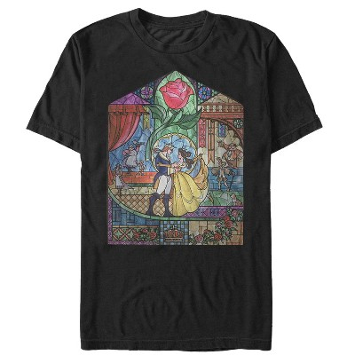 Men's Beauty and the Beast Stained Glass T-Shirt