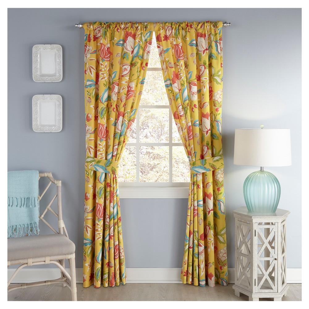 Modern Poetic Curtain Panel Pair Sunshine (Yellow) (50