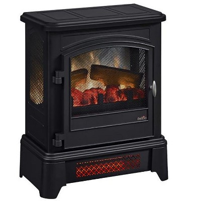 Duraflame Black Infrared 3D Freestanding Stove with Pedestal Base - DFI-7105-01