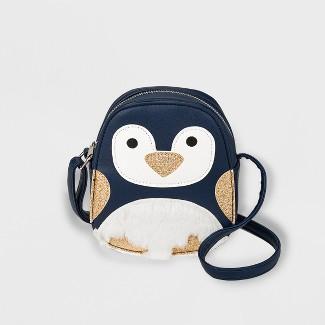 Girls' Penguin Crossbody Bag - Cat & Jack™ Blue