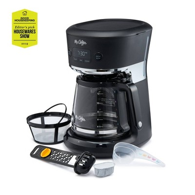 Mr. Coffee Easy Measure 12 Cup Programmable Coffee Maker - Black