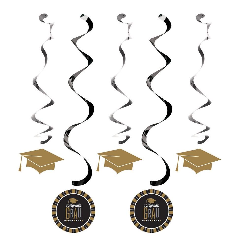 5ct Silver And Gold Glitz Graduation Dizzy Danglers, Multi-Colored