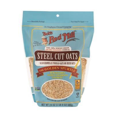 Oatmeal: Bob's Red Mill Steel Cut Oats