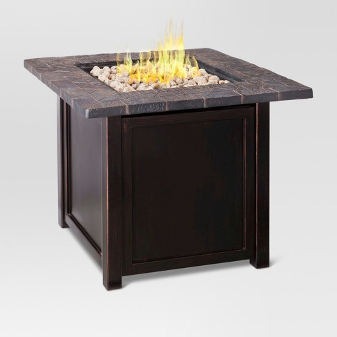 "Rocksprings 30"" Wide LP Square Fire Table - Dark Brown - Threshold™ - image 1 of 8"