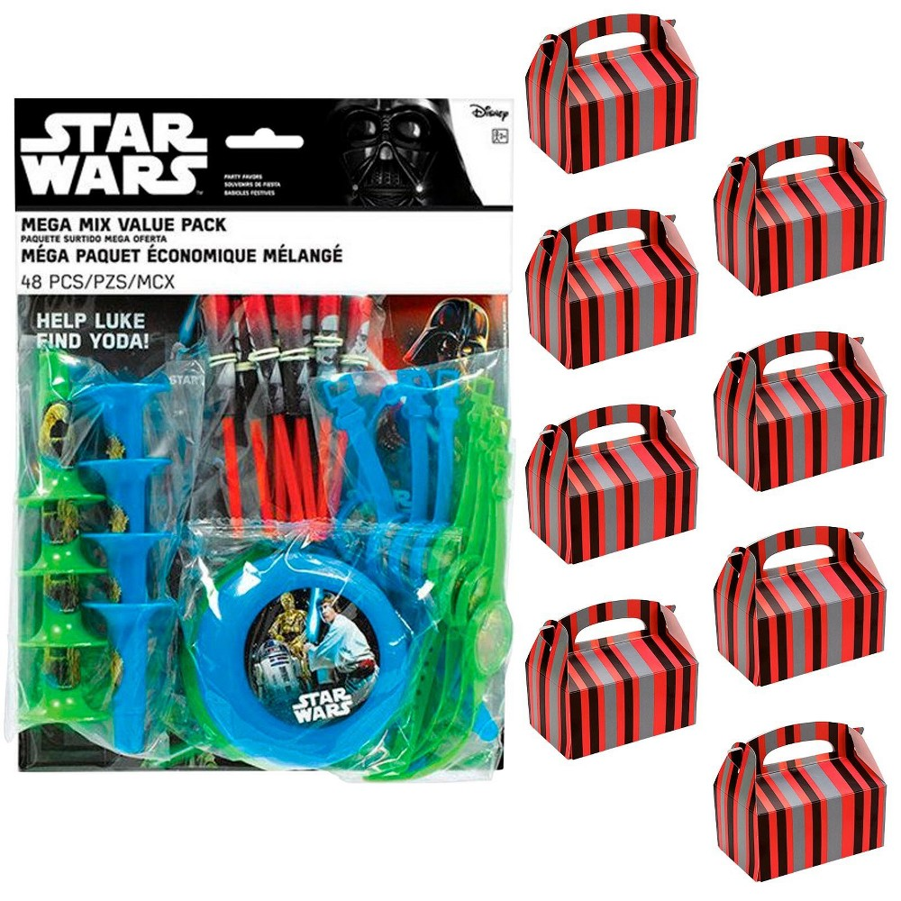 8ct Star Wars Classic Filled Favor Box Kit, Multi-Colored