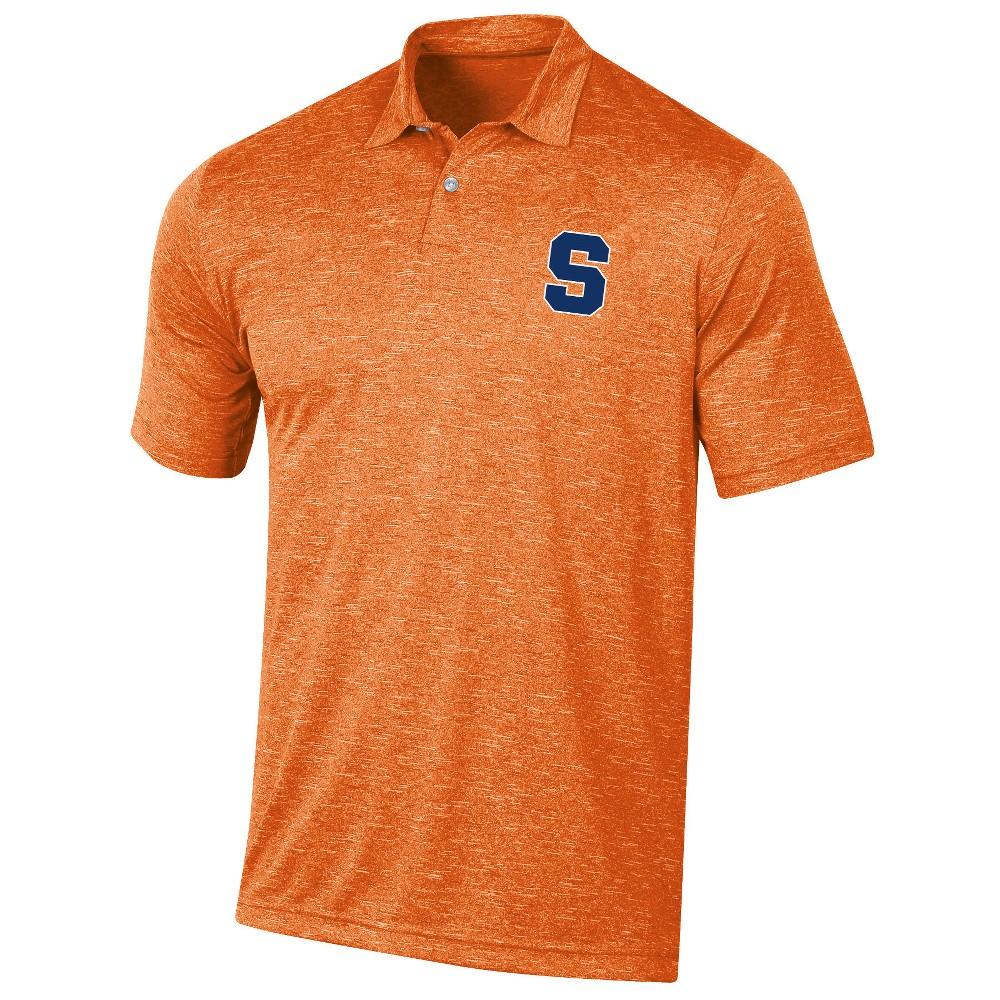 Syracuse Orange Men's Short Sleeve Twisted Jersey Polo Shirt - XL, Multicolored