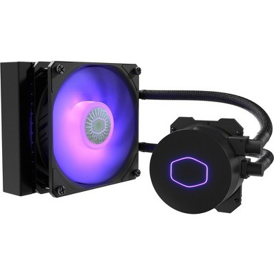 Cooler Master MasterLiquid ML120L V2 RGB Cooling Fan/Radiator/Water Block - 1 x 120 mm - 1 x 62 CFM - 27 dB(A) Noise - Liquid Cooler Cooler