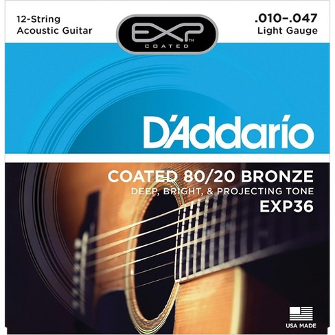 3 Pack  D/'Addario EJ41 Extra Light 12 String Acoustic Guitar Strings