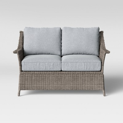 Foxborough Patio Loveseat Gray - Threshold™
