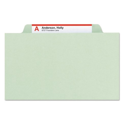 Smead® Six-Section Pressboard Classification Folders with Tab (10 per Box) - image 1 of 6