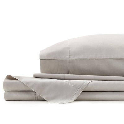 Ayesha Curry King 300 Thread Count Solid Sateen Sheet Set Gray