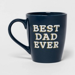 50oz Stoneware Best Dad Ever Giant Mug Blue - Threshold™