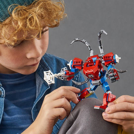 LEGO Marvel Spider-Man: Spider-Man Mech 76146 Building Playset with Mech and Minifigure image number null