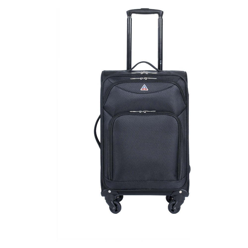 InUSA Light-Fi 20 Spinner Carry On Suitcase - Black