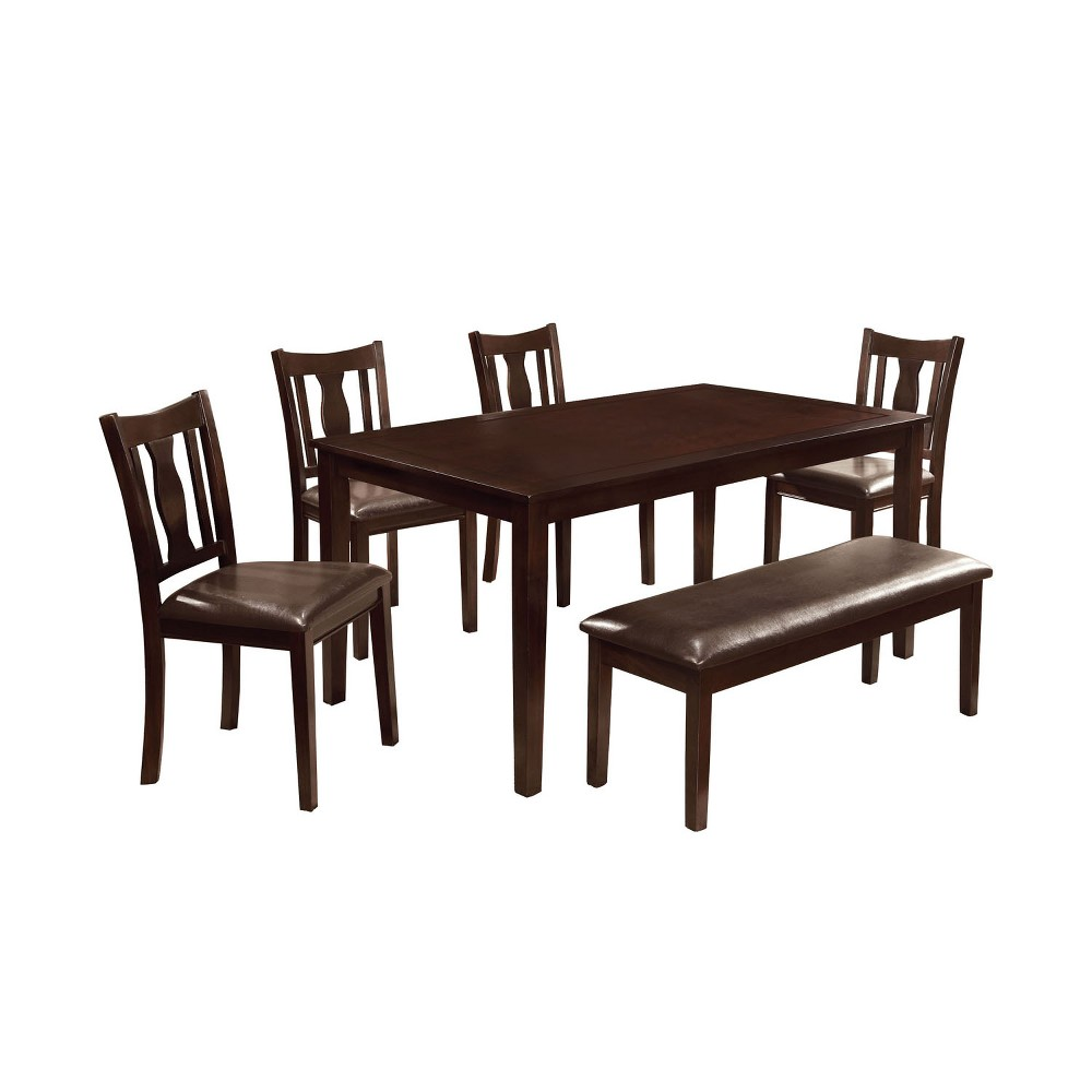 ioHomes Arthur 6pcs Dining Table Set Wood/Espresso (Brown)