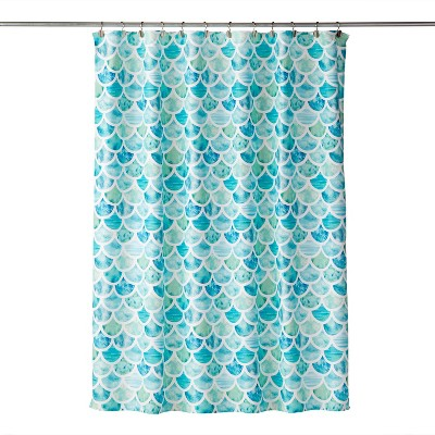 Ocean Watercolor Scales Shower Curtain - SKL Home