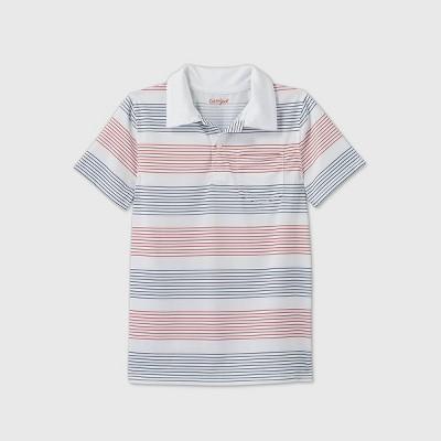 Boys' Short Sleeve Performance Polo Shirt - Cat & Jack™ White