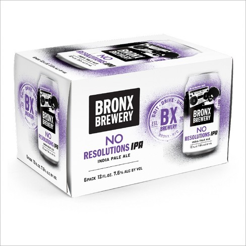 Bronx® No Resolutions IPA - 6pk / 12oz Cans - image 1 of 1