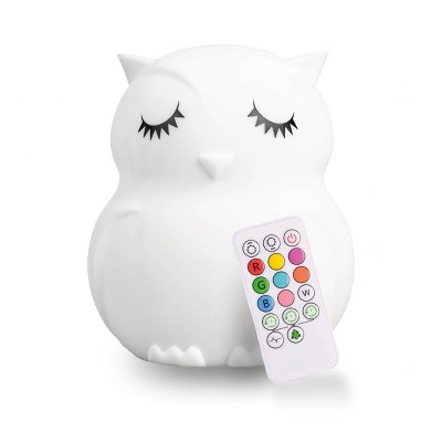 Lumipets LED Kids' Night Light Lamp with Remote - Owl