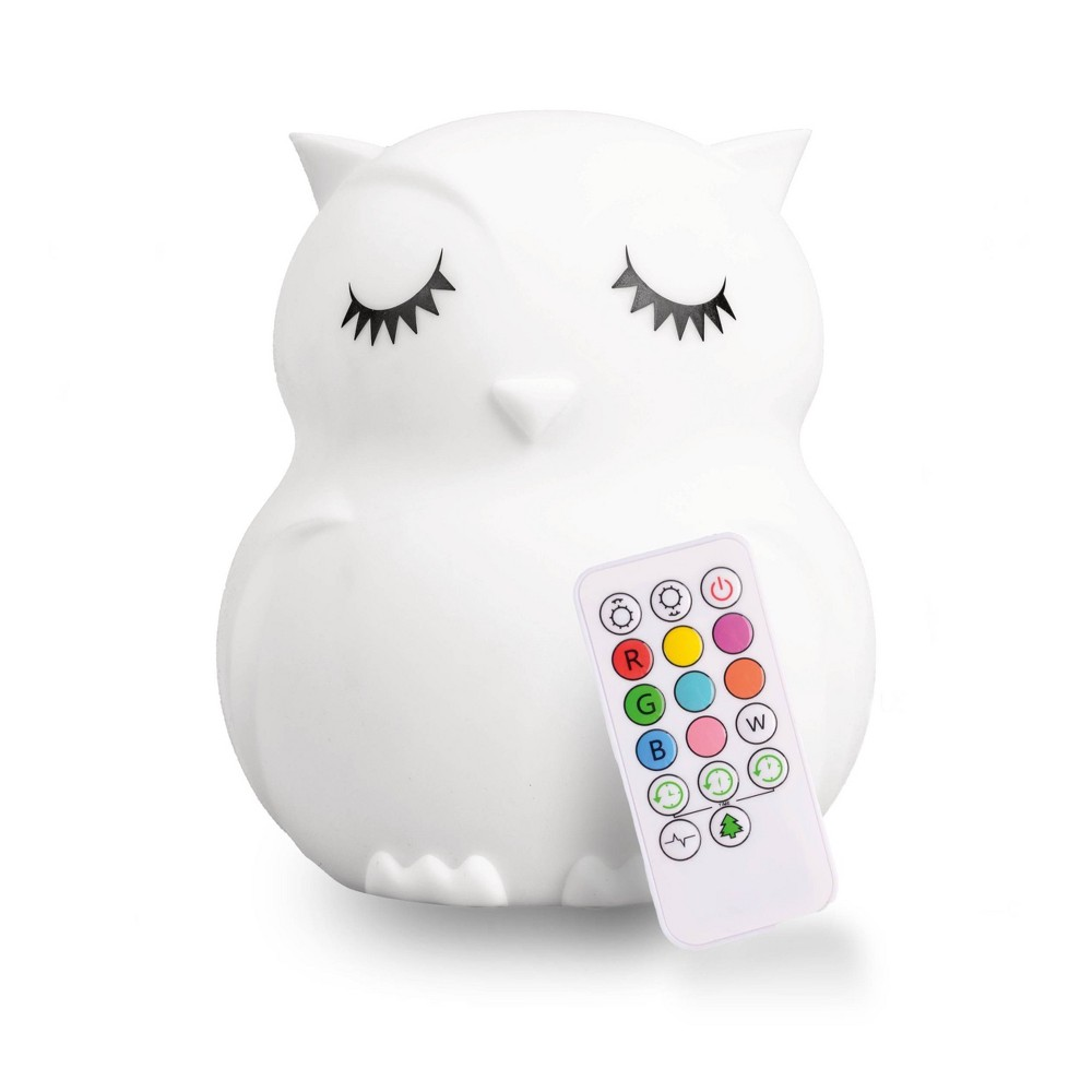 Image of Lumipets LED Kids Night Light Lamp with Remote - Owl