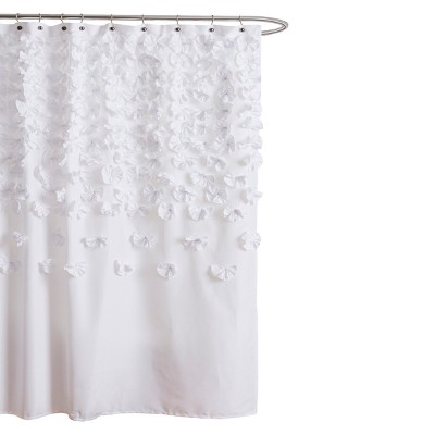 Lush Decor Lucia Scattered Flower texture Shower Curtain