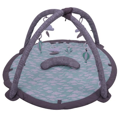 Bacati - Baby Activity Gyms & Playmats (Clouds in the City Mint/Grey)