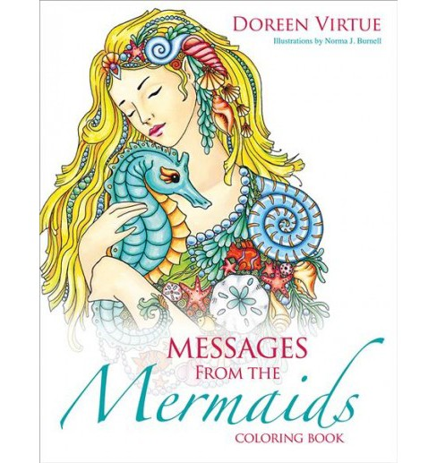 Messages from the Mermaids Coloring Book -  by Doreen Virtue (Paperback) - image 1 of 1