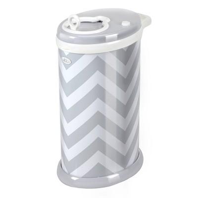 Ubbi Steel Diaper Pail - Gray Chevron