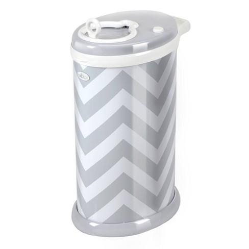 Ubbi Steel Diaper Pail - Gray Chevron - image 1 of 4