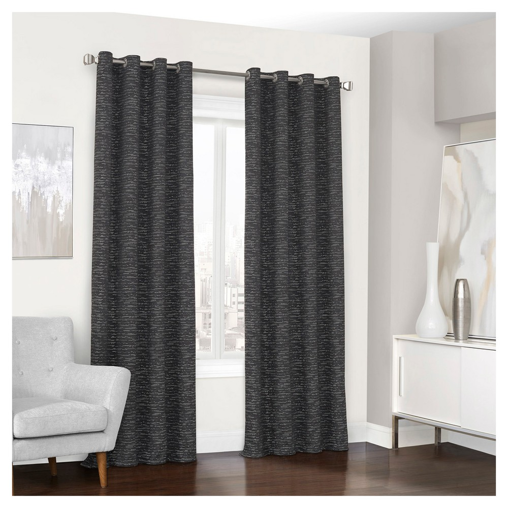 Randall Thermalined Curtain Panel Black (52