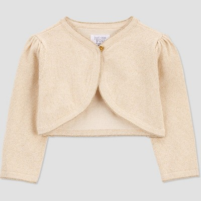 Baby Girls' Cardigan - Just One You® made by carter's Gold Newborn