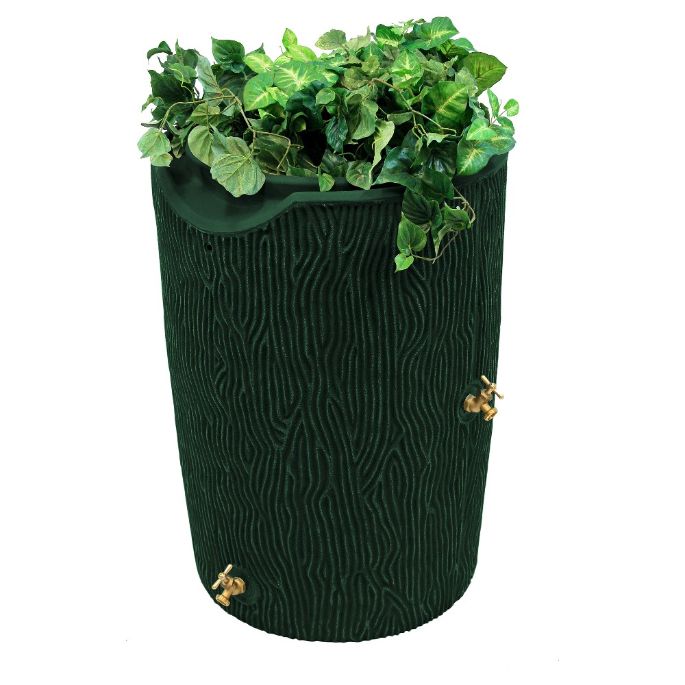Image of Impressions Bark 50 Gallon Rain Saver - Green - Good Ideas
