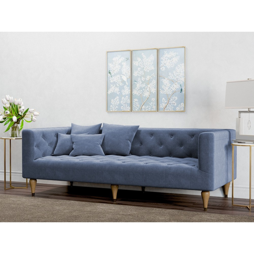 Alan Modern Tufted Sofa Pacific Blue - AF Lifestlye