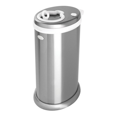 Ubbi Steel Metallic Diaper Pail - Silver