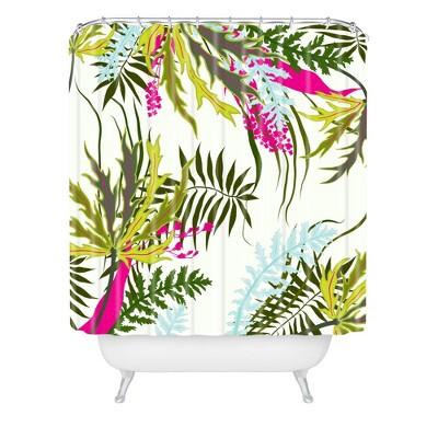 Josette Morning Shower Curtain Green - Deny Designs